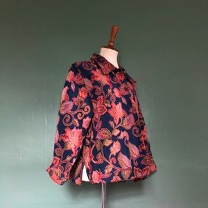 Jackets & Blazers - Woven floral print jacket